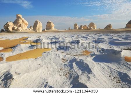 Mısır · beyaz · çöl · kaya · oluşumu · doğa · manzara - stok fotoğraf © prill