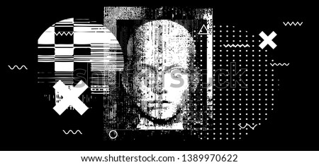 Human intelligence with grunge texture Stock photo © Lightsource