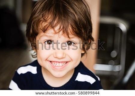 Portré vidám fiú gyermek jókedv festmény fiú Stock fotó © zzve