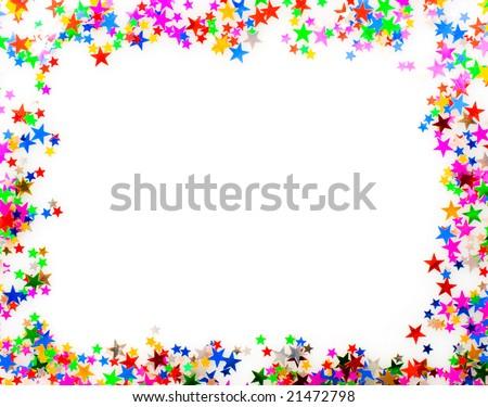 звездой конфетти различный цветами кадр Сток-фото © oly5