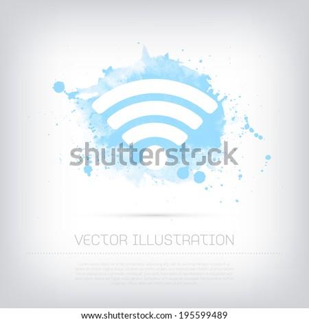 grunge · wifi · szimbólum · vektor · internet · technológia - stock fotó © burakowski