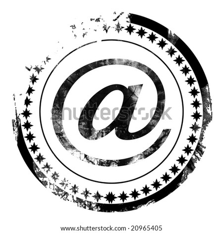 grunge email symbol stock photo © burakowski