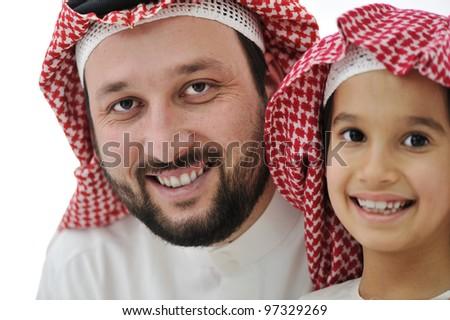 Közel-keleti férfi gyerekek lány boldog gyermek Stock fotó © monkey_business