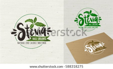 Organic Product Leaf and Logotype Bio Ingredients Stock photo © robuart