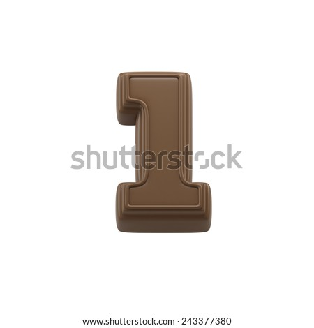 Number 1 made of chocolate  Stock photo © grafvision