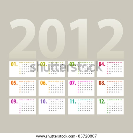 red calendar for 2012 stock photo © place4design