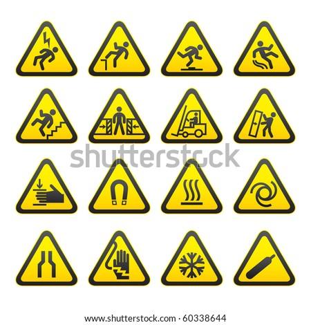 набор · предупреждение · признаков · опасность · вектора - Сток-фото © ecelop