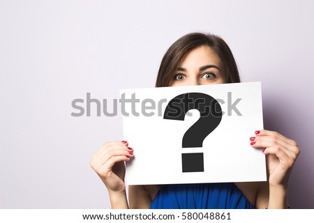 Stock photo: Fire sign query mark