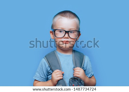 Unhappy boy on the first day of school Stock photo © photography33