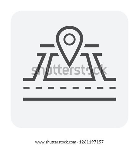 Icon land Stock photo © zzve