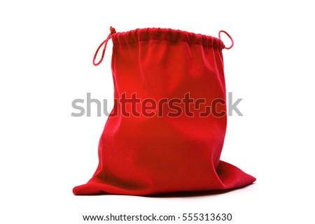 赤 布 袋 パッケージ ギフト 孤立した ストックフォト © Kheat