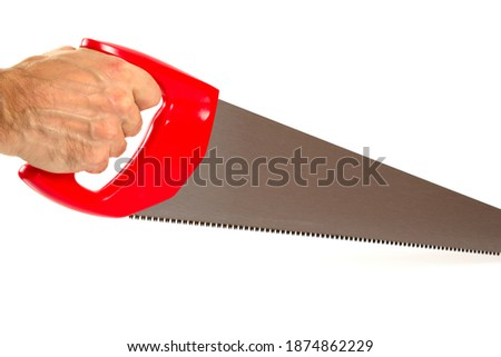 male workers hand holding crosscut handsaw stock photo © stevanovicigor