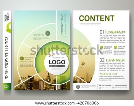En az iş broşür şablon şirket pazarlama Stok fotoğraf © SArts