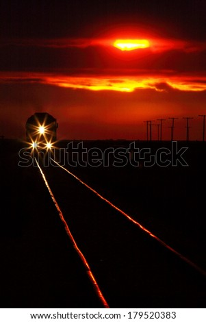 Scenic view of an approaching trrain near sunset Stock photo © pictureguy