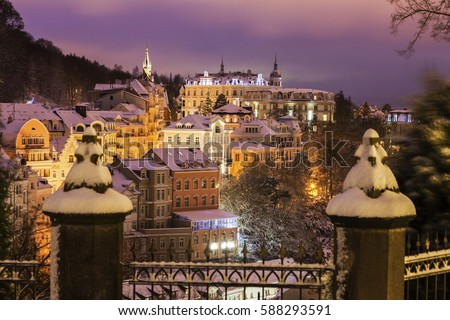 Winter in Karlovy Vary Stock photo © benkrut