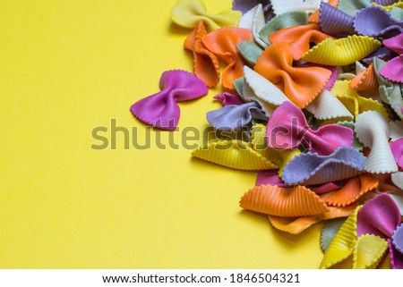 raw spelt flour assorted colorful pasta stock photo © Melnyk