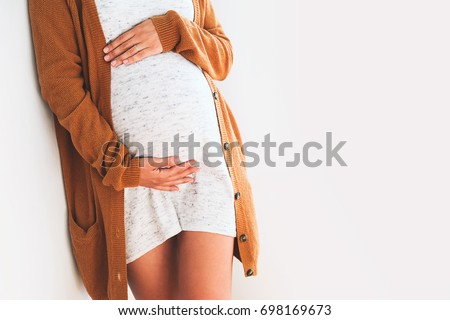 Beautiful fashion Pregnancy Stock photo © phakimata