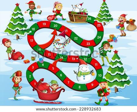 Karácsony manó ajándékok illusztráció háttér táska Stock fotó © colematt