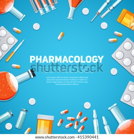 Medication Poster with Container for Medical Pills Stock photo © robuart