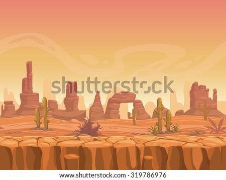 Scene with empty road in desert ground Stock photo © colematt