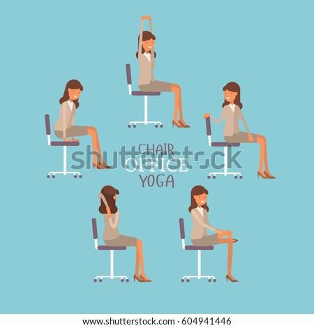 yoga · stoel · pose · icon · ontwerp · geïsoleerd - stockfoto © wad