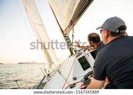 チーム アスリート ヨット 訓練 競争 水 ストックフォト © Lopolo