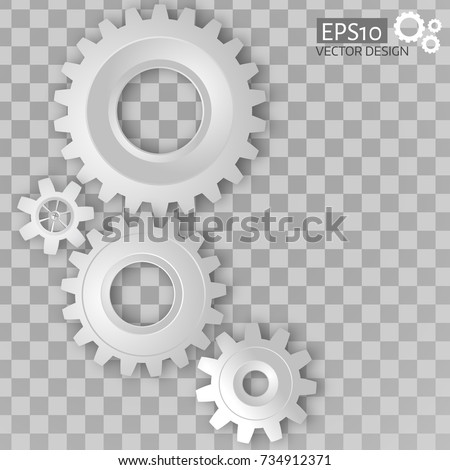 gray background with white gears connection design Stock photo © SArts
