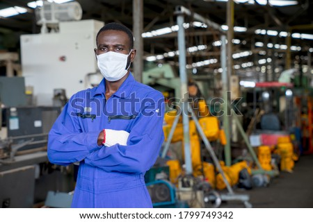 African American Workplace Safety Stock photo © AndreyPopov