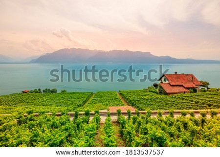 Suíça lago céu edifício montanha Foto stock © sumners