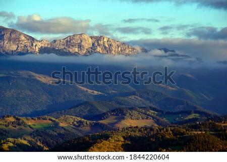 Caraiman falls in Bucegi Mountains, Romania Stock photo © photosebia