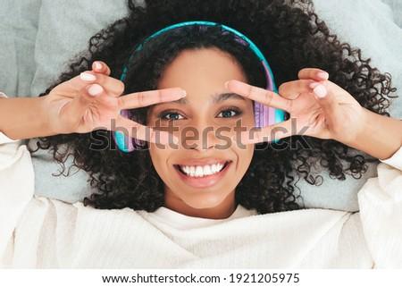 sensual · elegante · belo · africano · americano · mulher · atitude - foto stock © dash