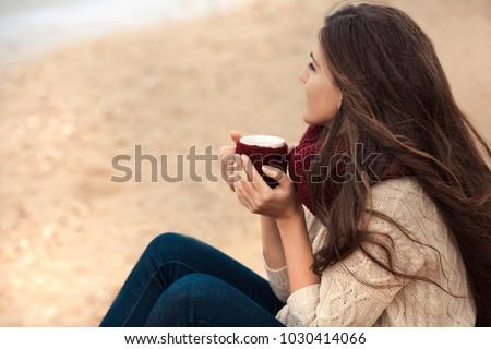 若い女性 飲料 太陽 写真 美しい ストックフォト © sumners