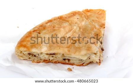 Burek on a plate, traditional Balkan dish Stock photo © stevanovicigor