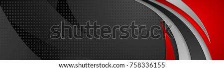 Abstract vector Rood golvend lijnen brochure Stockfoto © fresh_5265954