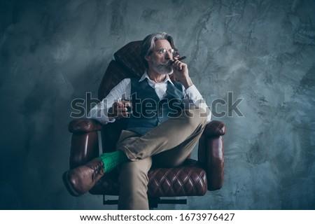 Green wear grandfather_alcohol Stock photo © toyotoyo