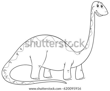 Animal outline for long neck dinosaur Stock photo © colematt