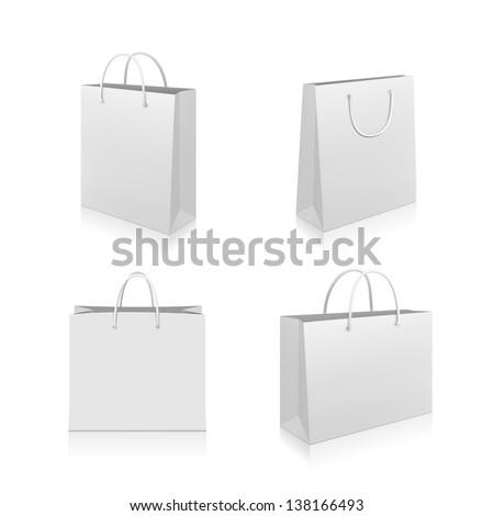 Táska bolt ikon fehér vásárlás festmény Stock fotó © smoki