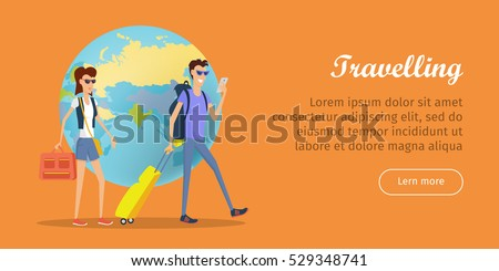 Thailand Conceptual Flat Style Vector Web Banner Stock photo © robuart