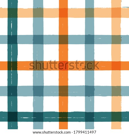 Stock photo: Tartan color seamless vector pattern