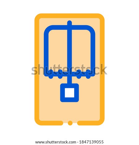 Mousetrap Above View Icon Vector Outline Illustration Stock photo © pikepicture