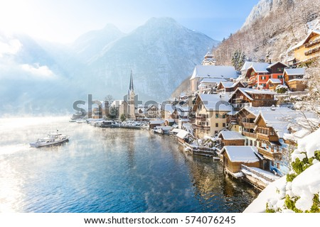 Hallstatt village, Austria Stock photo © dmitry_rukhlenko