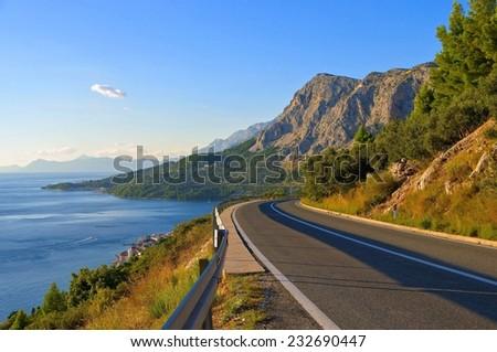 Mountain road in Dalmatia Stock photo © Harlekino