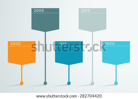 Cinco colorido infografía gris eps 10 Foto stock © limbi007