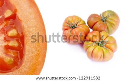 tomates · produire · marché · rouge · fruits - photo stock © lunamarina