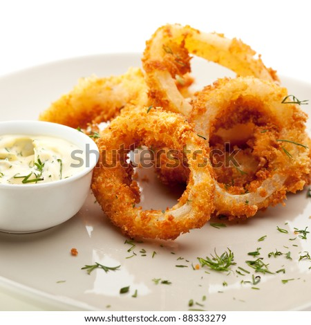 fried calamari and salad Stock photo © M-studio