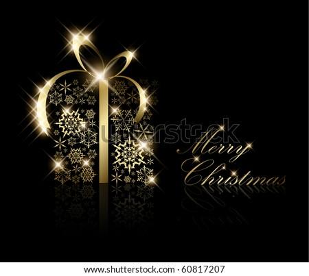 Stylizowany złota christmas płatki śniegu streszczenie wektora Zdjęcia stock © fenton