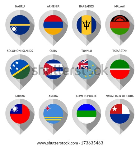 Map marker with flag-set thirteenth Stock photo © Ecelop