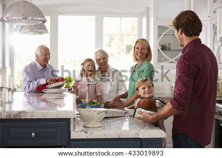 家族 キッチン 幸せ ホーム 男 ストックフォト © wavebreak_media