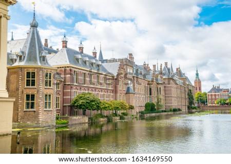 Holandês parlamento holandês fachada edifício cidade Foto stock © neirfy