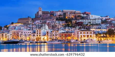 Ibiza Eivissa Church in Dalt Vila of Balearics Stock photo © lunamarina